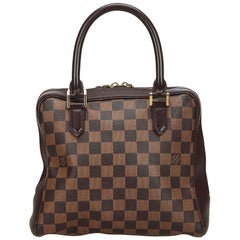 Vintage Authentic Louis Vuitton Brown Damier Canvas Ebene Brera France SMALL