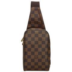 Vintage Authentic Louis Vuitton Brown Damier Canvas Ebene Geronimos Spain SMALL