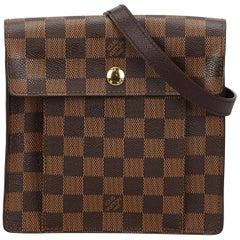Vintage Authentic Louis Vuitton Brown Damier Canvas Ebene Pimlico France SMALL