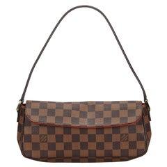 Vintage Authentic Louis Vuitton Brown Damier Canvas Ebene Recoleta France SMALL