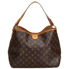 Vintage Authentic Louis Vuitton Brown Delightful PM France SMALL