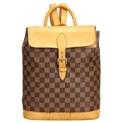 Vintage Authentic Louis Vuitton Brown Ebene Arlequin France MEDIUM