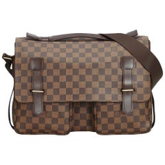 Vintage Authentic Louis Vuitton Brown Ebene Broadway France MEDIUM