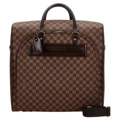 Vintage Authentic Louis Vuitton Brown Ebene Nolita PM France SMALL