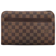 Vintage Authentic Louis Vuitton Brown Ebene Pochette Saint Paul FRANCE SMALL