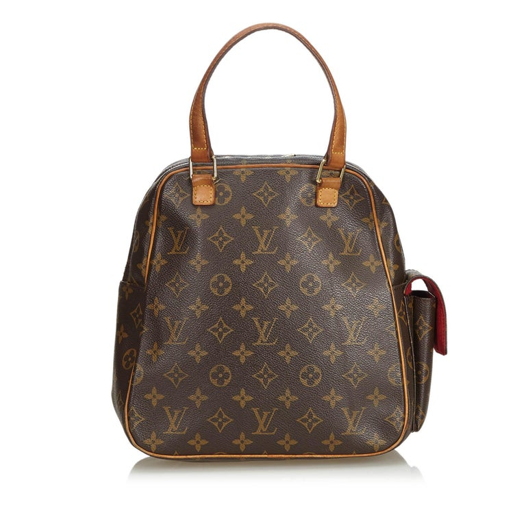 Vintage Authentic Louis Vuitton Brown Excentri Cite FRANCE w MEDIUM  In Good Condition For Sale In Orlando, FL