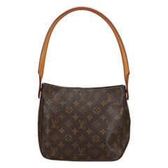 Vintage Authentic Louis Vuitton Brown Looping MM FRANCE w MEDIUM