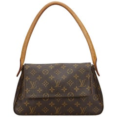 a57bf0b62 Vintage Authentic Louis Vuitton Brown Monogram Canvas Looping Mini France  MINI
