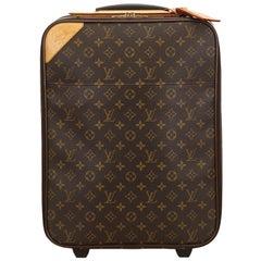 Vintage Authentic Louis Vuitton Brown Monogram Canvas Pegase 45 France LARGE