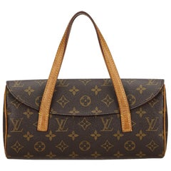 Vintage Authentic Louis Vuitton Brown Monogram Canvas Sonatine France MEDIUM