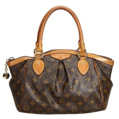 Vintage Authentic Louis Vuitton Brown Monogram Canvas Tivoli PM France SMALL