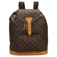 Vintage Authentic Louis Vuitton Brown Montsouris GM FRANCE LARGE