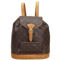Vintage Authentic Louis Vuitton Brown Montsouris MM France MEDIUM