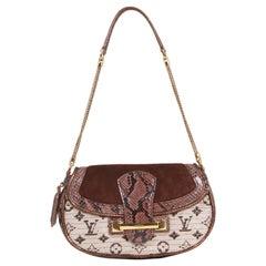 Vintage Authentic Louis Vuitton Brown Python Leather Levant FRANCE w SMALL