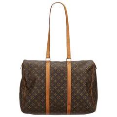 Vintage Authentic Louis Vuitton Brown Sac Flanerie 45 France LARGE
