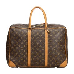 Vintage Authentic Louis Vuitton Brown Sirius 45 France w Padlock LARGE