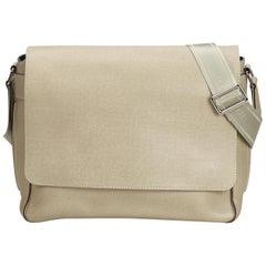Vintage Authentic Louis Vuitton Brown Taiga Leather Roman MM FRANCE w MEDIUM