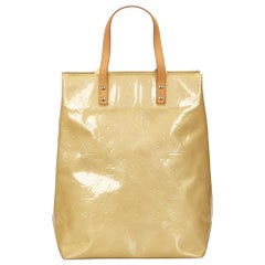 Vintage Authentic Louis Vuitton Brown Vernis Leather Reade MM France w MEDIUM