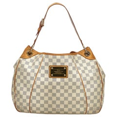 Vintage Authentic Louis Vuitton Damier Canvas Azur Galliera PM France SMALL