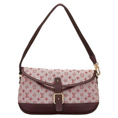 Vintage Authentic Louis Vuitton Dark Monogram Mini Lin Marjorie w Dust Bag Box