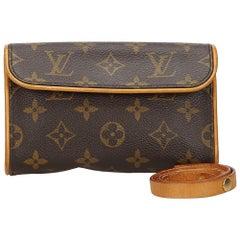 Vintage Authentic Louis Vuitton Florentine Pochette France w Dust Bag SMALL