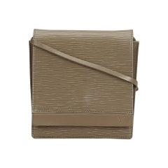 Vintage Authentic Louis Vuitton Gray Epi Leather Biarritz France w SMALL