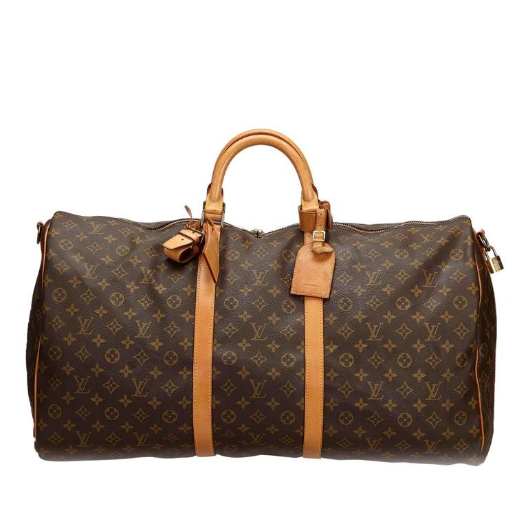 4b9c6919 Vintage Authentic Louis Vuitton Keepall Bandouliere 60 w Padlock Padlock  LARGE