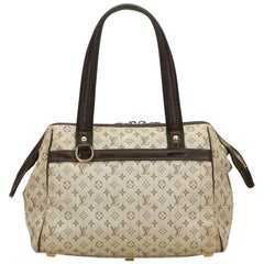 Vintage Authentic Louis Vuitton Monogram Mini Lin Josephine PM France SMALL