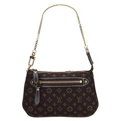 Vintage Authentic Louis Vuitton Monogram Mini Lin Pochette w Dust Bag MINI