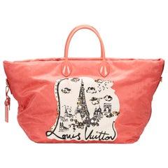 Vintage Authentic Louis Vuitton Monogram Nouvelle Vague Beach Bag ITALY LARGE