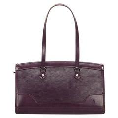 Vintage Authentic Louis Vuitton Purple Epi Leather Madeleine PM France SMALL