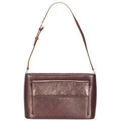 Vintage Authentic Louis Vuitton Purple Monogram Glace Alston Spain MEDIUM