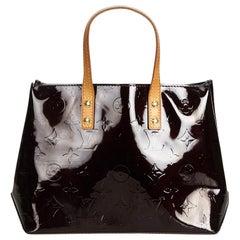 Vintage Authentic Louis Vuitton Purple Vernis Leather Reade PM France SMALL