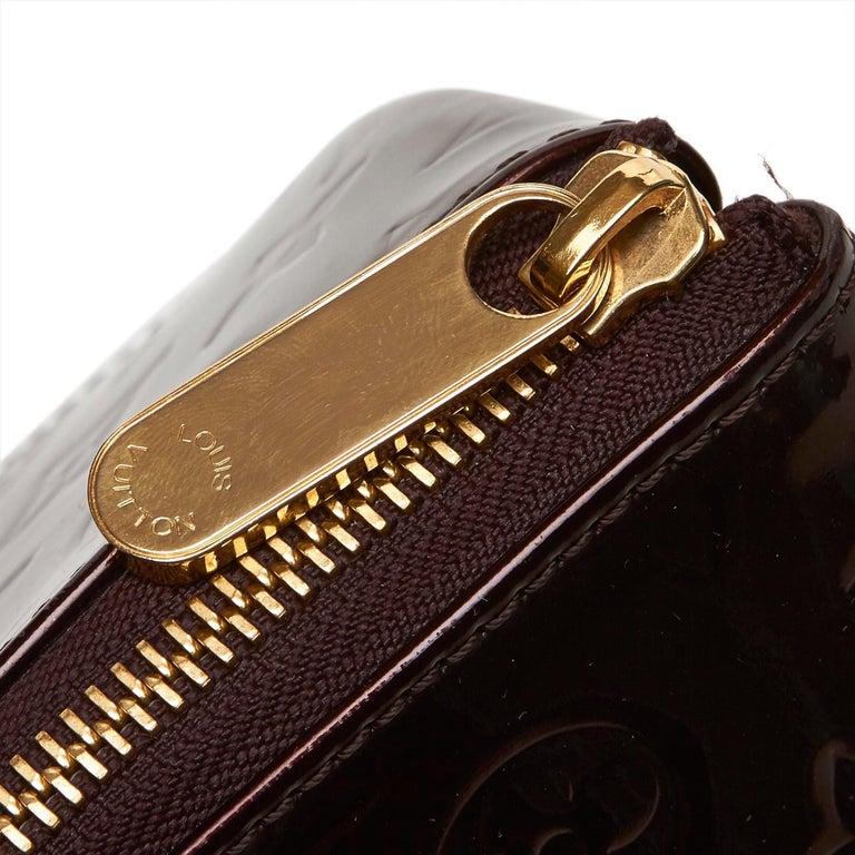 Vintage Authentic Louis Vuitton Purple Vernis Leather Rosewood France MEDIUM  For Sale 5