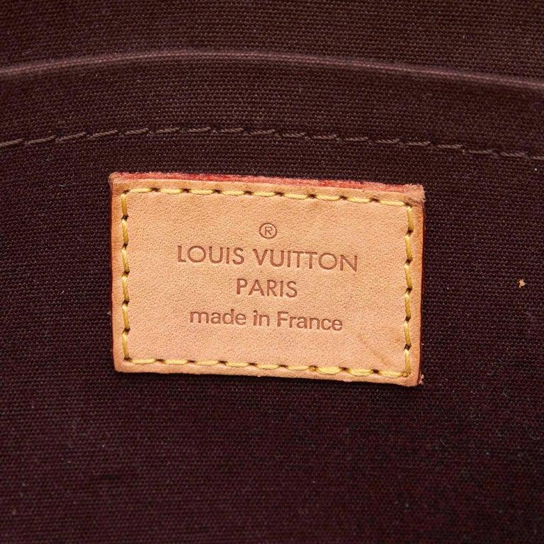Vintage Authentic Louis Vuitton Purple Vernis Leather Rosewood France MEDIUM  For Sale 1