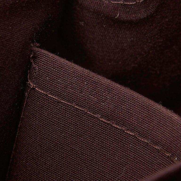 Vintage Authentic Louis Vuitton Purple Vernis Leather Rosewood France MEDIUM  For Sale 2
