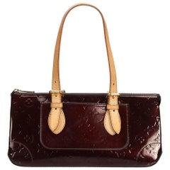 Vintage Authentic Louis Vuitton Purple Vernis Leather Rosewood France MEDIUM