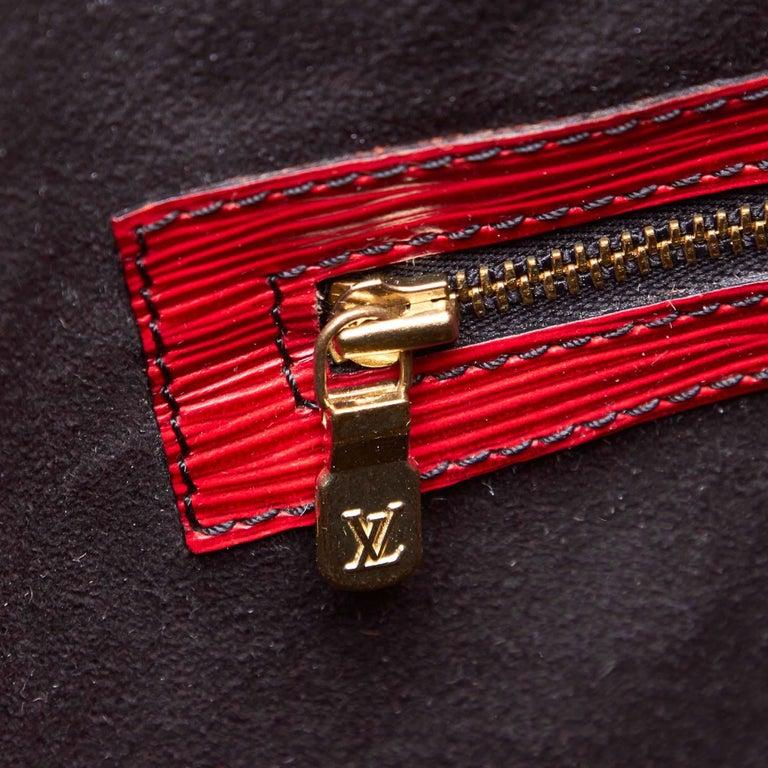 Vintage Authentic Louis Vuitton Red Epi Leather Randonnee