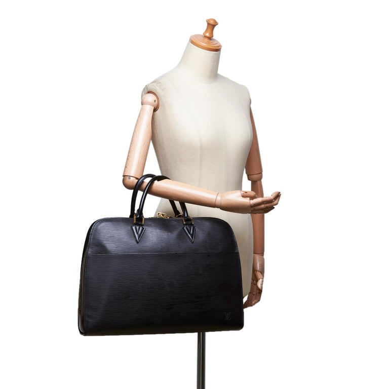 Vintage Authentic Louis Vuitton Sorbonne France w Dust Bag Padlock Key LARGE  For Sale 5