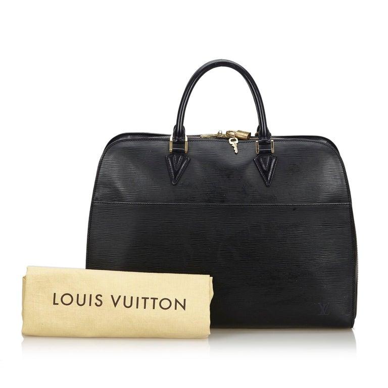 Vintage Authentic Louis Vuitton Sorbonne France w Dust Bag Padlock Key LARGE  For Sale 6