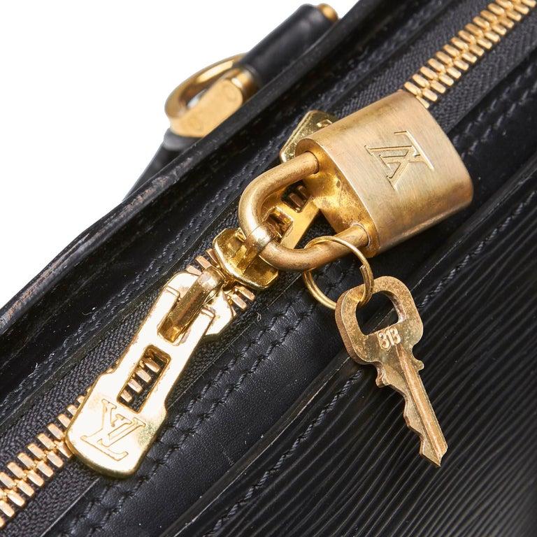 Vintage Authentic Louis Vuitton Sorbonne France w Dust Bag Padlock Key LARGE  For Sale 4