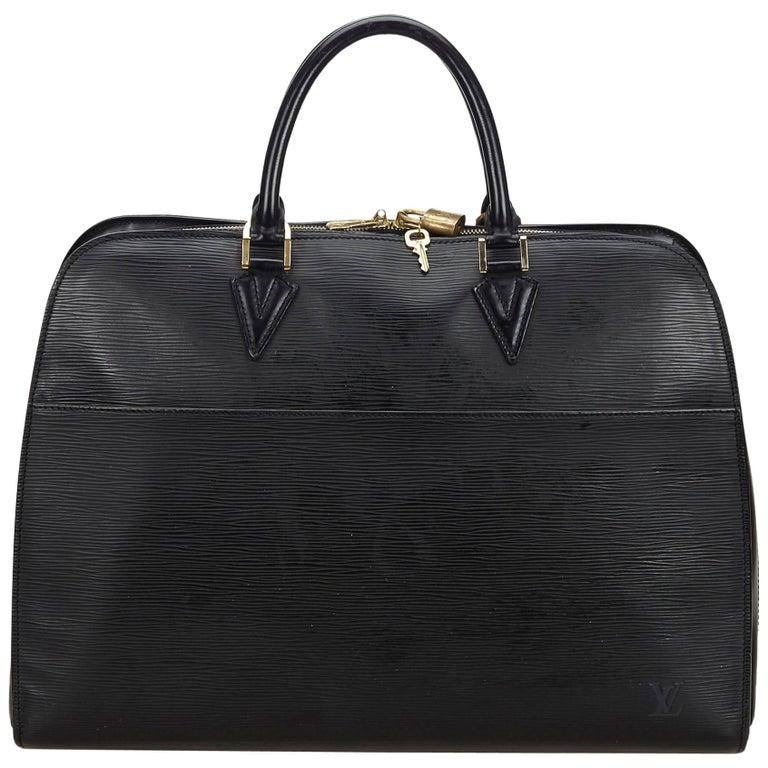 Vintage Authentic Louis Vuitton Sorbonne France w Dust Bag Padlock Key LARGE  For Sale