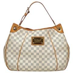 Vintage Authentic Louis Vuitton White Azur Galliera PM France w Dust Bag SMALL