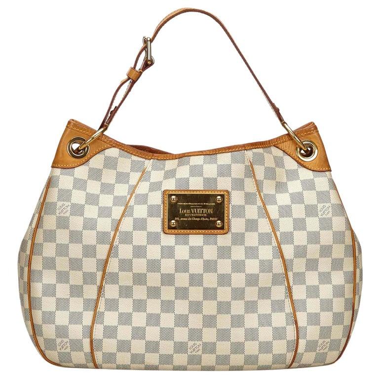 be538510e4962 Vintage Authentic Louis Vuitton White Azur Galliera PM France w Dust Bag  SMALL For Sale