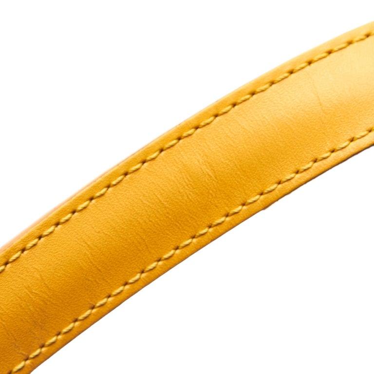 Vintage Authentic Louis Vuitton Yellow Saint Jacques GM Long Strap France LARGE  For Sale 6