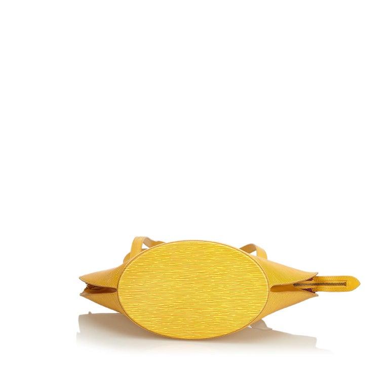 Women's Vintage Authentic Louis Vuitton Yellow Saint Jacques GM Long Strap France LARGE  For Sale