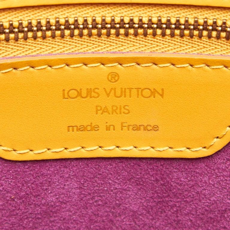 Vintage Authentic Louis Vuitton Yellow Saint Jacques GM Long Strap France LARGE  For Sale 2