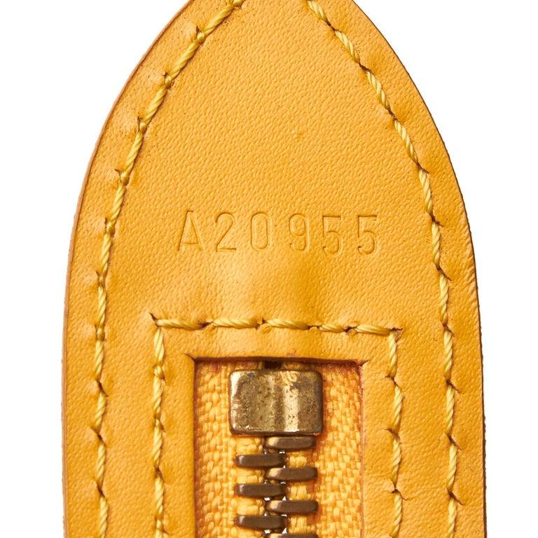 Vintage Authentic Louis Vuitton Yellow Saint Jacques GM Long Strap France LARGE  For Sale 3