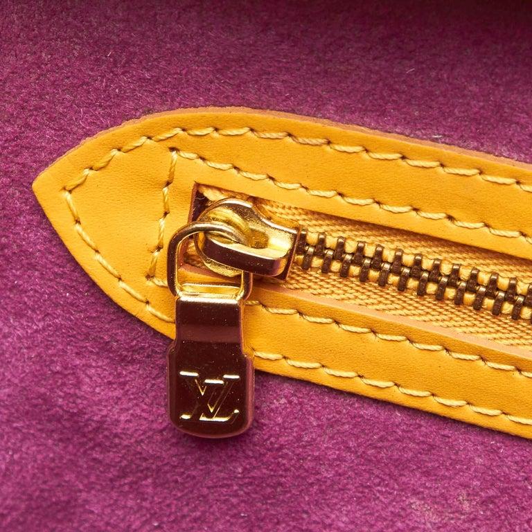 Vintage Authentic Louis Vuitton Yellow Saint Jacques GM Long Strap France LARGE  For Sale 5