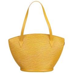 Vintage Authentic Louis Vuitton Yellow Saint Jacques GM Long Strap France LARGE